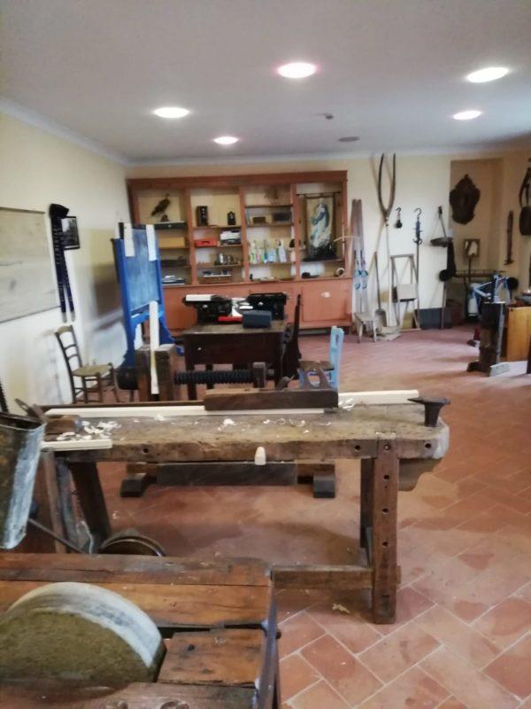 interno del museo contadino nella rocca feretrana di Monte Cerignone